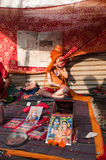 Kind Hindoese Sadhu, Gangasagar, Kolkata Stock Afbeelding