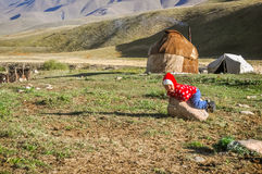 Kind im Ala Archa in Kirgisistan Stockfoto