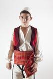 Kind im albanischen traditionellen Kostüm Lizenzfreie Stockfotografie