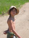 Kind im Hut Stockbilder