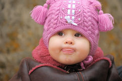 Kind im Kopftext Stockfotografie