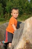 Kind im Wald Stockfotos