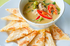 Kind of Indian with chicken green curry Stock Photo