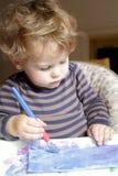 Kind, Kleinkind-Zeichnungs-Kunst Lizenzfreie Stockfotografie