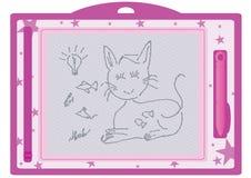 Kind löschbares zeichnendes Board_eps Lizenzfreies Stockfoto