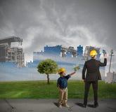 Kind lernt, Welt zu verbessern Stockfoto