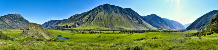 Kind from the Magnetic Stone. Mountain Altai. A panorama from the Magnetic Stone Royalty Free Stock Photos