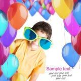 Kind met ballons Stock Foto