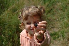 Kind met braambes Royalty-vrije Stock Foto