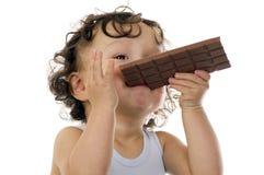 Kind met chocolade. Royalty-vrije Stock Foto