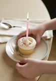 Kind met Cupcake Royalty-vrije Stock Fotografie