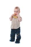 Kind met een stuk speelgoed Stock Afbeelding