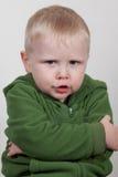 Kind met gekruiste wapens Royalty-vrije Stock Foto's