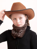 Kind met hoed Royalty-vrije Stock Afbeelding