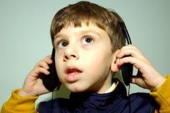 Kind met Hoofdtelefoons 4 Stock Foto