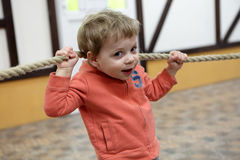 Kind met kabel royalty-vrije stock foto