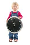 Kind met klok Royalty-vrije Stock Foto