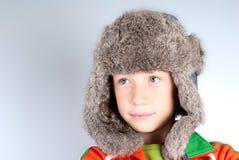 Kind met konijnhoed Stock Afbeeldingen