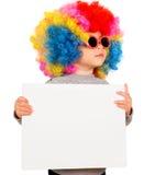 Kind met lege raad Stock Foto