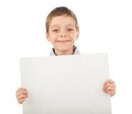 Kind met lege spatie stock foto's
