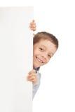 Kind met lege spatie royalty-vrije stock fotografie