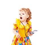 Kind met mobiele telefoon royalty-vrije stock foto's