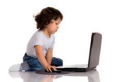 Kind met notitieboekje Stock Afbeelding