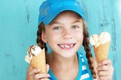 Kind met roomijs Royalty-vrije Stock Foto