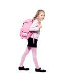 Kind met schooltas Stock Afbeelding