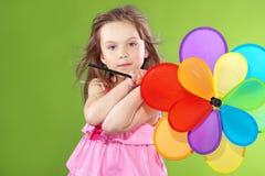 Kind met stuk speelgoed Stock Foto