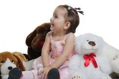 Kind met stuk speelgoed. stock afbeeldingen
