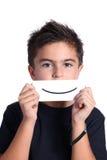 Kind met tekeningsglimlach Stock Foto's