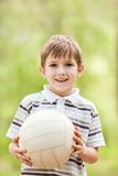Kind met voetbalbal Royalty-vrije Stock Foto