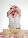 Kind met vork Stock Afbeelding