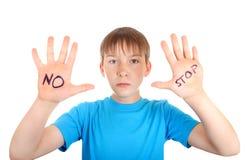 Kind mit Ablehnungs-Geste Stockfotografie