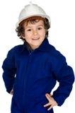 Kind mit Arbeitskleidung Lizenzfreies Stockfoto