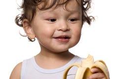 Kind mit Banane. Lizenzfreies Stockbild