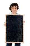 Kind mit dem leeren Schiefer, zum von Wörtern zu setzen Lizenzfreies Stockfoto