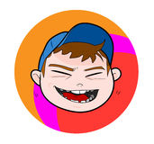 Kind mit der Kappe, lachend Lizenzfreie Stockfotos