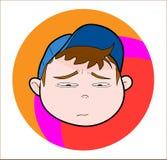 Kind mit der Kappe, traurig/schreiend Stockfotos
