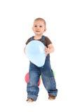 Kind mit einem Ballon stockbilder
