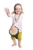 Kind mit einer Trommel Stockfotos