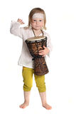 Kind mit einer Trommel Stockfotografie