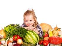 Kind mit Gemüse. Lizenzfreies Stockbild