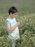 Kind mit Getreide Lizenzfreie Stockbilder
