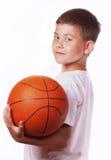 Kind mit Kugel lizenzfreies stockfoto