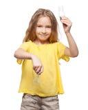 Kind mit Lampe Lizenzfreie Stockfotografie