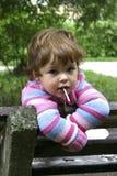 Kind mit Lutscher Stockfoto