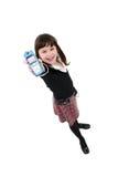Kind mit Mobiltelefon Lizenzfreies Stockfoto