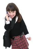 Kind mit Mobiltelefon Stockfoto